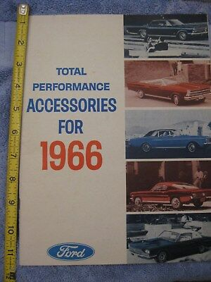 1966 Ford TOTAL PERFORMANCE ACCESSORIES BOOKLET Mustang Galaxie Van Bronco Truck