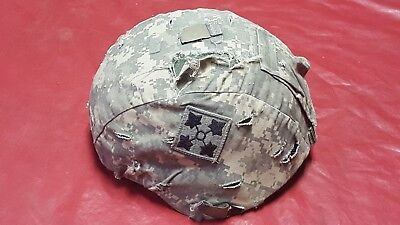 US ARMY ACH ADVANCED COMBAT HELMET MSA MEDIUM 4th Infantry division patch
