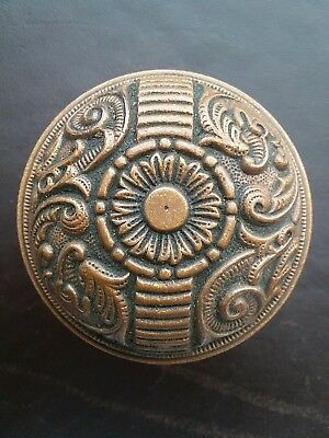 Antique Victorian Eastlake Bronze Brass Door Knob Penn Portulaca F - 20600 Rare