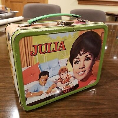 1969 Julia Lunch Box - No Thermos - Good Condition W/Thermos holder in box