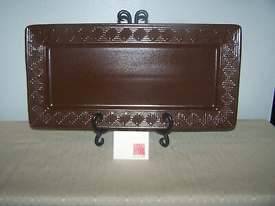 """WHIRLING ARROW Frank Lloyd Wright TALIESIN Table Tray CHOCOLATE BROWN 15.5""""L x 8"""