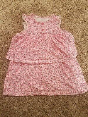 Child Of Mine By Carter's Girls 24 Months pink flower Dress Outfit Spring Summer