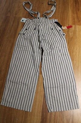 New Sass And Bide Blue Stripe Denim Overalls Size 26 Size 8-10, 34 Inch Rrp $200