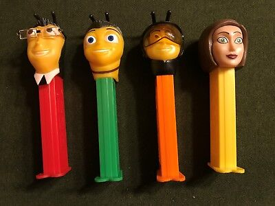 4 different Pez  dispensers from the Bee Movie