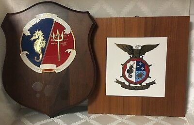 US Navy Destroyer USS WILTSIE Tile Wood Plaque US Military - Seahorse - Trident