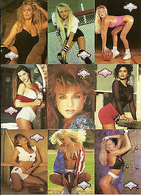 1992 Bench Warmers Series 1 - Full Set Of 120 - Models - Actresses - Pin Ups
