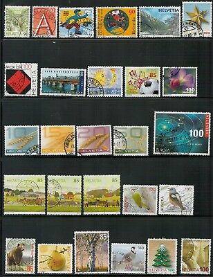 Lot 5171 - Switzerland - Selection of 26 used stamps from various years