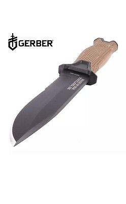 Gerber StrongArm Fixed Blade Knife, Fine Edge, Coyote Brown [30-001058]  New