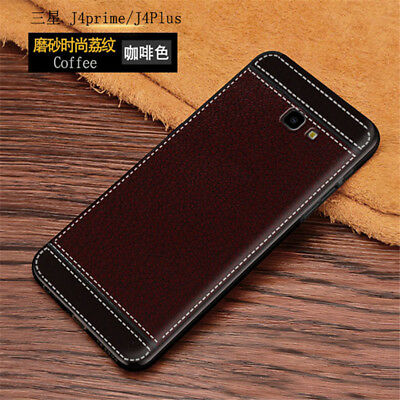 For Samsung Galaxy J4 Plus/ J6 Plus, Full Cover Leather Pattern Soft TPU Case