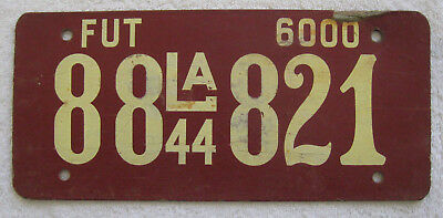 1944 Louisiana Fiberboard Farm Truck License Plate