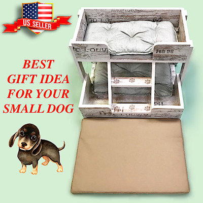 """Dog House & Playground  Stylish Modern-Vintage for Small  Dogs (24"""" x 18"""" x 22"""")"""