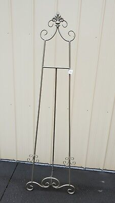 Antique Silver wedding picture Easel photo stand 170cmH