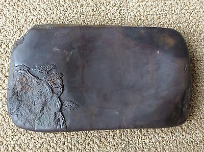 CHINESE OLD INK STONE DUAN 端渓 / W 23.5× D 13.4 × H 3.1cm 2.4kg