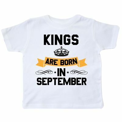 8e0bacb6 Inktastic Kings Are Born In September Toddler T-Shirt Birthdays Adult King  Month