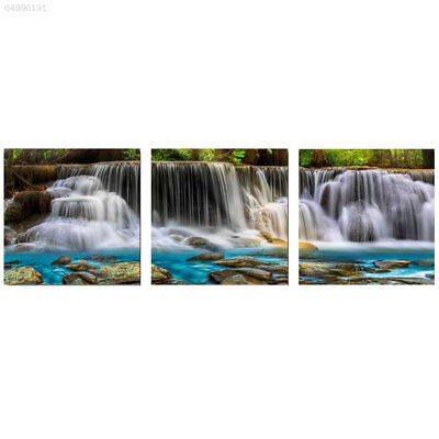 CD2B 3Pcs/Set Falls Landscape Joint Canvas Oil Painting Pictures Home Art Gift
