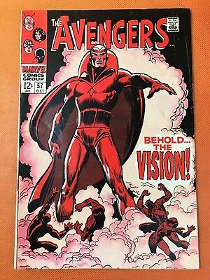 1968 Marvel AVENGERS #57 * 1st VISION * Hot Key * NICE & Solid!
