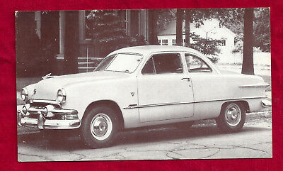 1951 Ford Club Coupe V-8 Dealer Post Card.