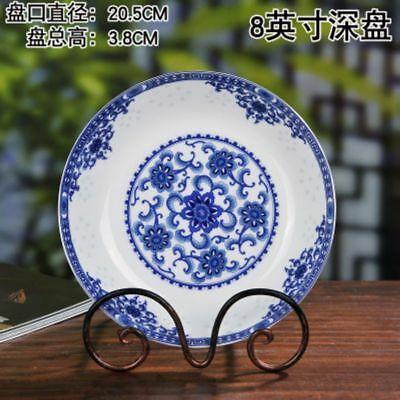 Rare Beautiful Chinese Ancient Exquisite And Rich Porcelain Flower Plate 0417