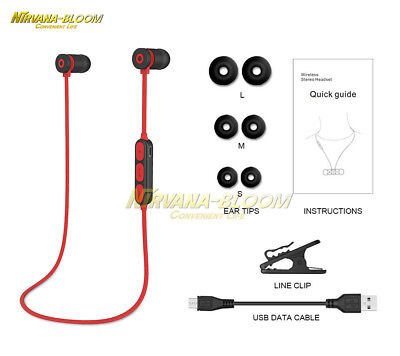 Magnetic Sport Wireless Bluetooth 4.2 Handfree In-ear Earphone Stereo Headphone