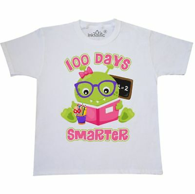 Inktastic 100 Days Girl Monster Youth T-Shirt Smarter Of School 100th Day Read