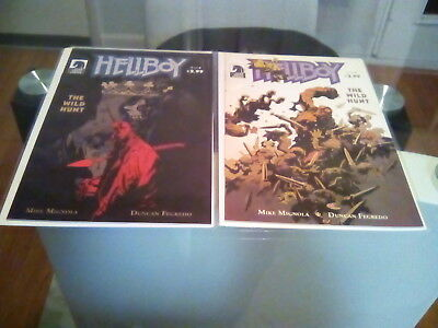 Hellboy The Wild Hunt #2 1St Nimue The Blood Queen 1St Print 2009 Mignola + #4