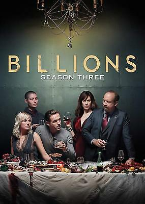 Billions Complete Season 3 Dvd - Brand New & Sealed + Free Priority Post + Track