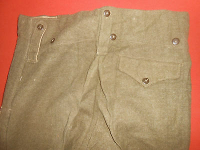Original 1940s British Style PARACHUTIST BATTLEDRESS Wool Field TROUSERS-NOS