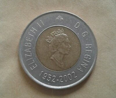 Canada 2 Dollar coin (2002 double date)