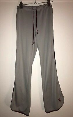 Vintage PLAYBOY Track pants Grey Silver Maroon Tracksuit 90s Fashion Rare Small