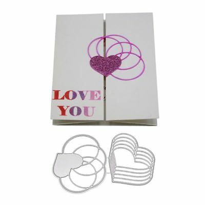 Heart Stencil Metal Cutting Dies For DIY Scrapbooking Paper Card Craft Embossing