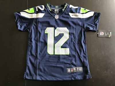 NFL Nike Seattle Seahawks Trikot Shirt Kinder 12 Sarah American Football S NEU