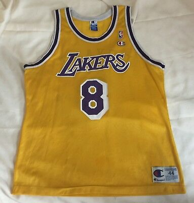 5f0f331d5b40 Vintage 90s Men s Los Angeles Lakers Kobe Bryant  8 Champion NBA Jersey  Size 44