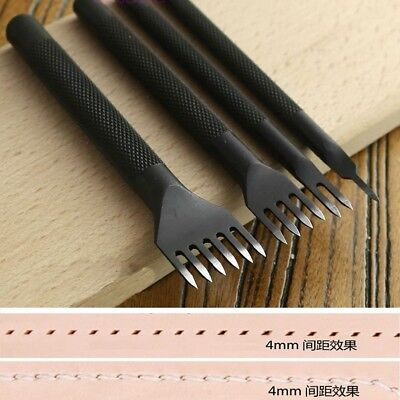 4mm Leather Craft Tool Hole Punches Lacing Stitching Punch Tool (4Pcs)