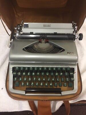A Diana Royal Portable Typewriter And Case