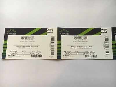 Stereophonics Tickets Wembley Arena Sat 3rd March 2018 Memorabilia Only! Unused!