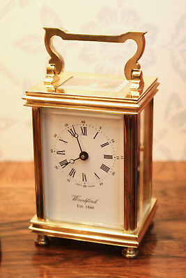 A Magnificent English 'Anglaise' Woodford Carriage Clock GWO & Key
