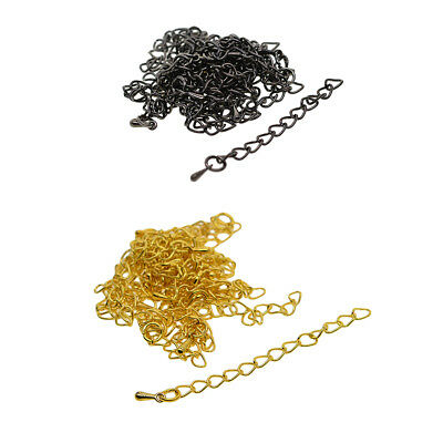 20x Black Gold Extender Chain for Necklace Bracelet Jewelry Connector Repair