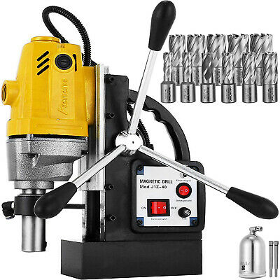 "MD40 Electric Magnetic Drill Press 1.5"" Boring w/11 pcs HSS Annular Cutter Bits"