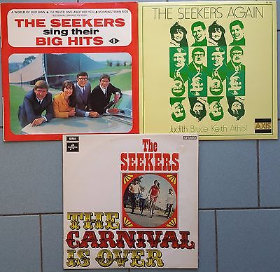 ♫ 3 classic THE SEEKERS albums  -vinyl is in good and excellent condition ♫