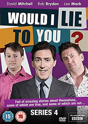 WOULD I LIE TO YOU COMPLETE SERIES 4 DVD Fourth Season Rob Brydon UK Release New