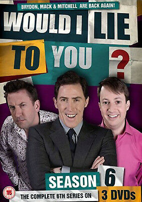WOULD I LIE TO YOU COMPLETE SERIES 6 DVD Sixth Season Rob Brydon UK Release New