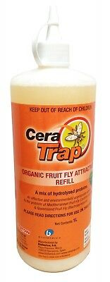 Amgrow CERA TRAP ORGANIC FRUIT FLY ATTRACTANT REFILL 1L Protein Based Solution
