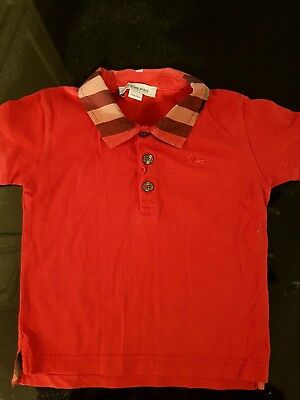 Burberry Baby Boy Red Tshirt Size 12 Months