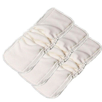 Bamboo Cotton Cloth Diaper Charcoal Reusable Baby Nappy Inserts Liner Microfiber