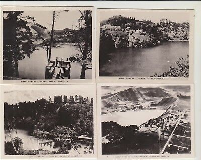 4 Scenes Mt Gambier South Australia 86Mm X 68Mm Real Photographs C1940