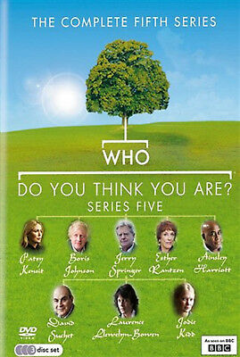 WHO DO YOU THINK YOU ARE COMPLETE SERIES 5 DVD Fifth Season Amanda Redman UK New
