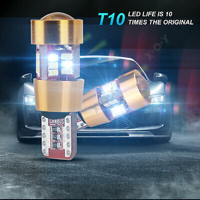 T10 RGB LED X2 Car Interior Roof Dome Bulbs Lights Parking Red Green Blue W5W