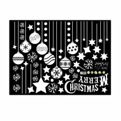 Wall Stickers merry christmas background wall decoration Removable (C, 45 c C2N6