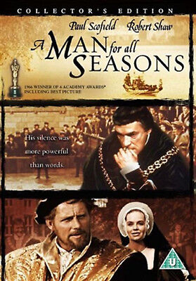 A MAN FOR ALL SEASONS Collector's Edition DVD Paul Scofield UK Release New R2