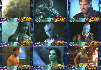 Marvel Guardians of the Galaxy 2014; Near Complete Blue Foil Parallel Card Set